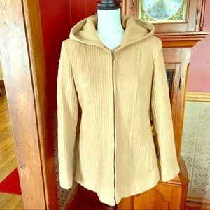 Anne Klein Sport Hooded Pea Coat Jacket